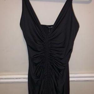Runched Front Midi Body-con Dress